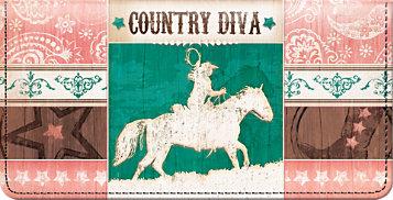 Country Diva Checkbook Cover