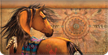 Painted Ponies Checkbook Cover