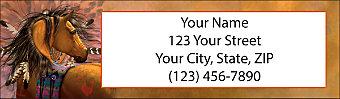 Painted Ponies Return Address Label