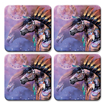 Enjoy Beverages Without Worry When You Rest Them on Colorful Art Coasters