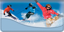 Snow Sports Checkbook Cover