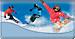 Snow Sports Checkbook Cover