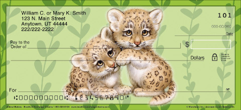 Animal Babies Personal Checks