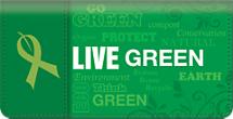 Live Green Checkbook Cover