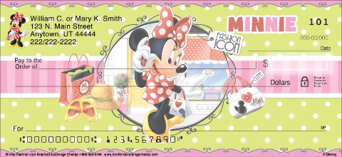 Disney Minnie Fashion Icon Personal Checks
