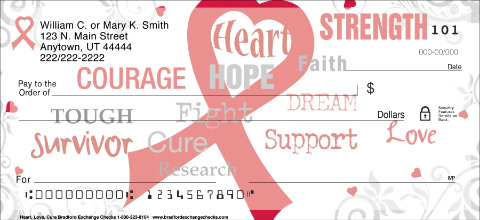 Heart, Love, Cure Personal Checks