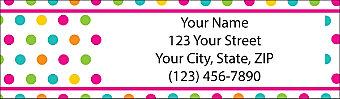 Polka Dots Return Address Label