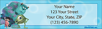 Monsters Inc Return Address Label