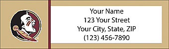 Florida State University Return Address Label