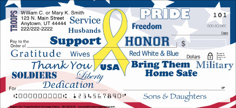 Support Our Troops Personal Checks