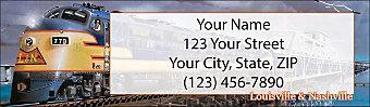 Diesel Trains Return Address Label