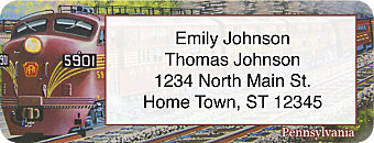 Diesel Trains Return Address Label