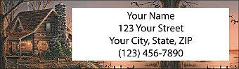 Terry Redlin's Cabin Retreat Return Address Label