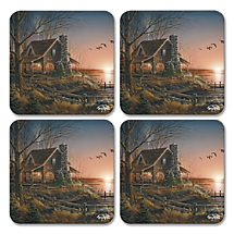 Keep Surfaces Clean and Protected Anywhere You Place Your Beverages with Cabin Retreat Coasters