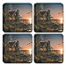 Terry Redlin's Cabin Retreat Coaster Set