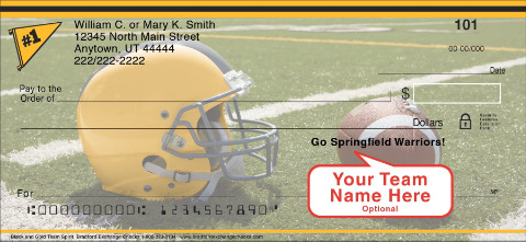 Black & Gold Team Spirit Personal Checks