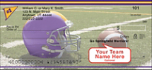 Purple & Gold Team Spirit Personal Checks