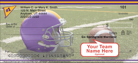 Purple & Gold Team Spirit Personal Checks