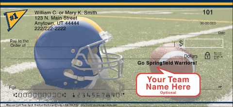 Blue & Gold Team Spirit Personal Checks