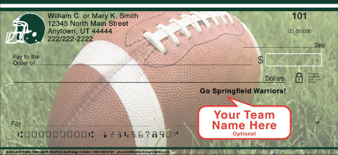 Green & White Team Spirit Personal Checks