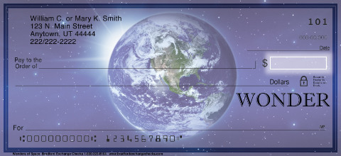 Wonders of Space Personal Checks, Inspirational Space Personal Checks, Planet Personal Checks