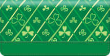 Shamrocks Checkbook Cover, Clover Checkbook Cover