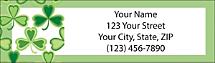 Shamrocks Return Address Label, Clover Address Labels