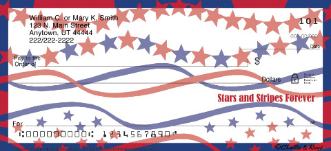 Stars & Stripes Personal Checks, Patriotic Checks