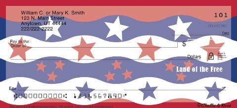 Stars & Stripes Personal Checks, Patriotic Checks