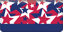 Stars & Stripes Checkbook Cover, Patriotic Checkbook Cover