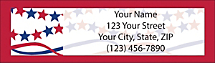 Stars & Stripes Return Address Label, Patriotic Address Label