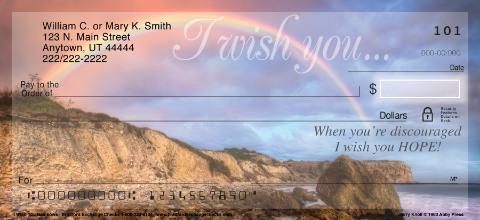 I Wish You Rainbows Personal Checks