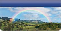I Wish You Rainbows Checkbook Cover