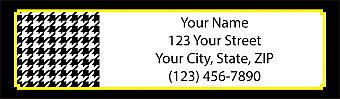 Houndstooth Return Address Label