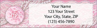Lavish Lace Return Address Label