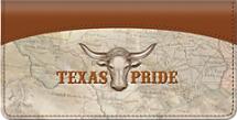 Texas Pride Checkbook Cover, Longhorn Checkbook Covers