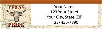 Texas Pride Return Address Label