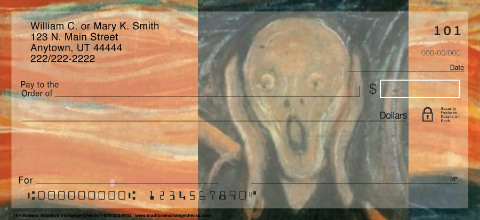 The Scream Personal Checks