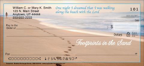 Footprints Personal Checks