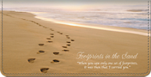 Footprints Checkbook Cover