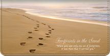 Footprints Checkbook Cover
