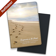 Jump into Journaling with an Inspirational Footprints in the Sand Notebook