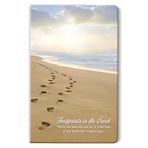 Have Your Footprints in the Sand Notebook in Hand as You Find Your Happy Place