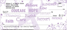 Alzheimer's Personal Checks, Alzheimer's Support Personal Checks
