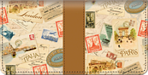 Tour of Europe Checkbook Cover