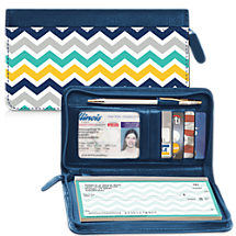 Chevron Chic Zippered Checkbook Cover