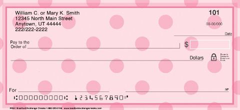 Pink Personal Checks