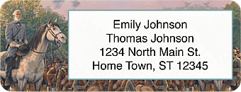 Confederate Generals Return Address Label