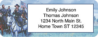 Union Generals Return Address Label