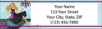 Fashionista Return Address Label